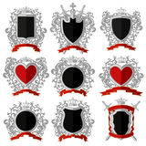 Coat of arms. Flat design Royalty Free Stock Images