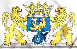 Coat of Arms of the Flevoland Province, Netherlands. Stock Image