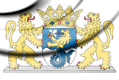 Coat of Arms of Flevoland Province, Netherlands. Royalty Free Stock Photography