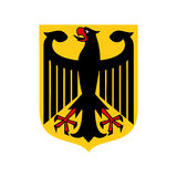 Coat of arms of Germany icon, flat style Stock Photo