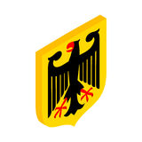 Coat of arms of Germany isometric 3d icon Stock Image