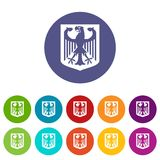 Coat of Arms of Germany set icons Stock Images