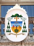 Coat of Arms of Gianmarco Busca bishop of Mantua. Italy Royalty Free Stock Photography