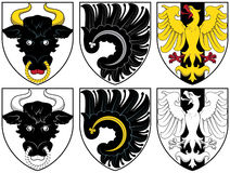 Coat of arms - gold and black Stock Photography