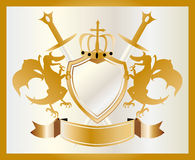 Coat of arms gold Stock Photo