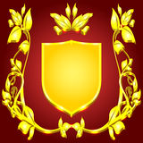 coat of arms gold monogram Royalty Free Stock Images