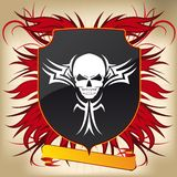Coat of Arms Gothic 01 - Skull Royalty Free Stock Photo