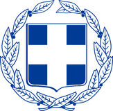 Coat of arms of Greece Stock Image