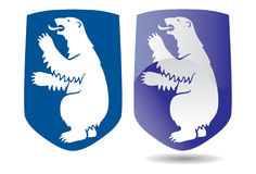 Coat of arms of Greenland. Vectorial image ofcoat of arms of Greenland, executed in two variants Royalty Free Stock Image
