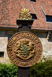 Coat of arms of the historical dukedom Saxe-Coburg in Coburg, Germany Stock Photography