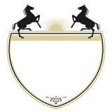 Coat of arms with horses Stock Image