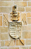 Coat of Arms, House Palace of Becerra, Cáceres, Spain, Extremadura, Spain Stock Photos