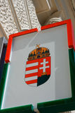 Coat of arms of Hungary emblem in Pecs Royalty Free Stock Photo
