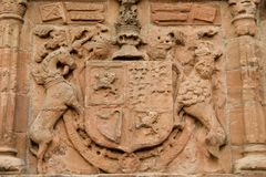 Coat of Arms Huntly Castle. Ancient Coat of Arms within Huntly Castle, Scotland Royalty Free Stock Image