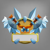 Coat of arms icon for game interface. Royalty Free Stock Photography