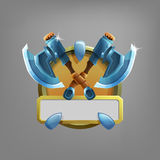 Coat of arms icon for game interface. Royalty Free Stock Images