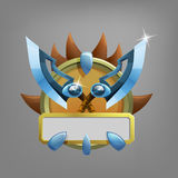 Coat of arms icon for game interface. Royalty Free Stock Photos