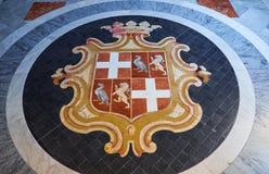Coat of arms of Jean Parisot de Valette. Grandmaster`s Palace. V Stock Image