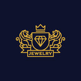 Coat of Arms Jewelry. Sophisticated jewelry Coat of Arms Royalty Free Stock Photography