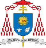 Coat of arms of Jorge Mario Bergoglio (The Pope Francis I) Royalty Free Stock Image