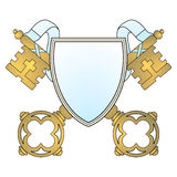 Coat of arms key Royalty Free Stock Photography