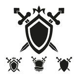 Coat of arms knight shield templates. Coat of arms medieval knight shield vector templates Royalty Free Stock Photo