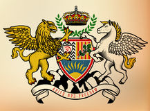 Coat of arms  Knight. Vector Illustration. Royalty Free Stock Photo