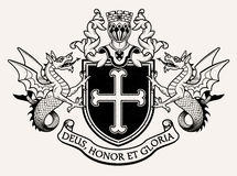 Coat of arms Knight. Vector Illustration. Royalty Free Stock Images