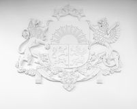 Coat of arms of Latvia Stock Photography