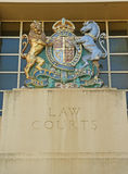 Coat of arms on Law Courts building Royalty Free Stock Photos