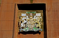 Coat of arms, Lerwick, Shetland Stock Images