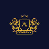 Coat of Arms Letter A Company Royalty Free Stock Photo