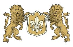 Coat of arms lions vector Stock Photography