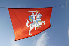 Coat of arms of Lithuania against the sky Stock Photography
