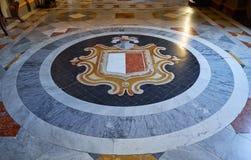 Coat of arms of Malta. Grandmaster`s Palace. Valletta. Malta Royalty Free Stock Photos