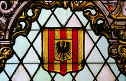 Coat of Arms of Mechelen - Stained Glass Stock Photos