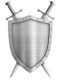 Coat of arms medieval knight shield and crossed Royalty Free Stock Photos