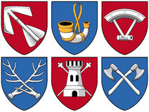 Coat of arms - mixture part 1 Stock Photos