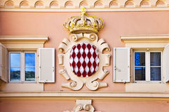 Coat of arms of the Monaco principality Royalty Free Stock Photos