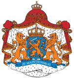 Coat of arms of the Netherlands Stock Images
