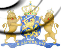 Coat of Arms of the Netherlands 1815-1907. Stock Photo