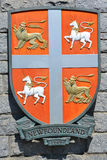 Coat of arms of Newfoundland Stock Images