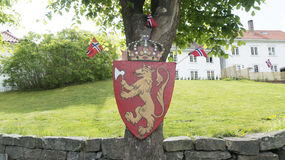 Coat of arms of Norway Stock Image