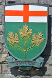 Coat of arms of Ontario Stock Photos