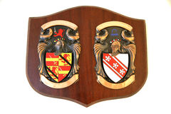Coat of arms plaque Stock Photos