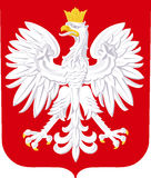 Coat of arms of Poland Stock Images