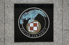 Coat of arms of Polish Air Force in Deblin. Poland.  Royalty Free Stock Photo
