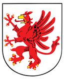Coat of arms of Pomerania, Germany province shield, emblem or national symbol. Original and simple flag  illustration isolated on white background Stock Images