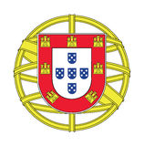Coat of arms of Portugal, vector illustration Royalty Free Stock Photography