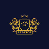 Coat of Arms Realtor. Coat of arms for Real estate business Stock Images